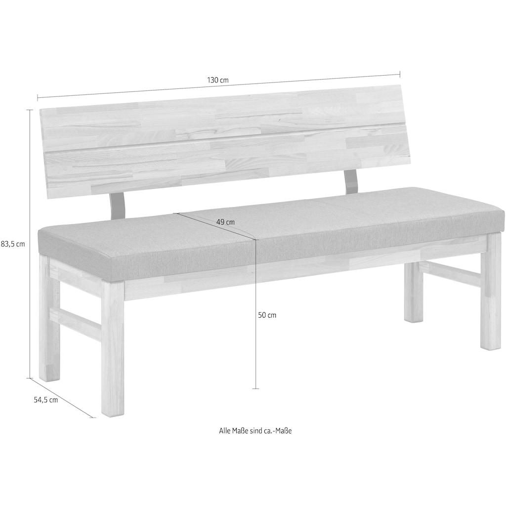 SCHÖSSWENDER Sitzbank »Lorenzo«, modernes Design, Gestell aus Massivholz