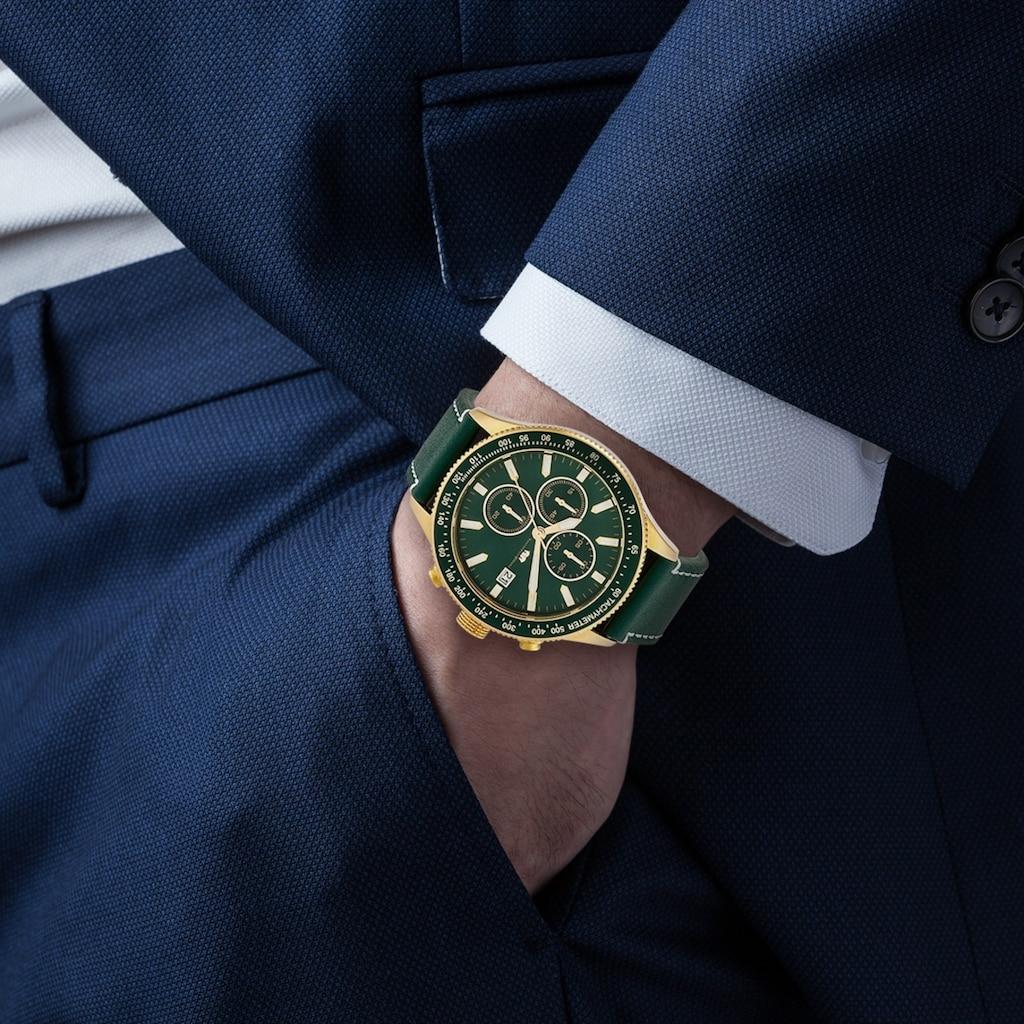 Rhodenwald & Söhne Chronograph »RWS021«, (1 tlg.), Armband aus Echtleder