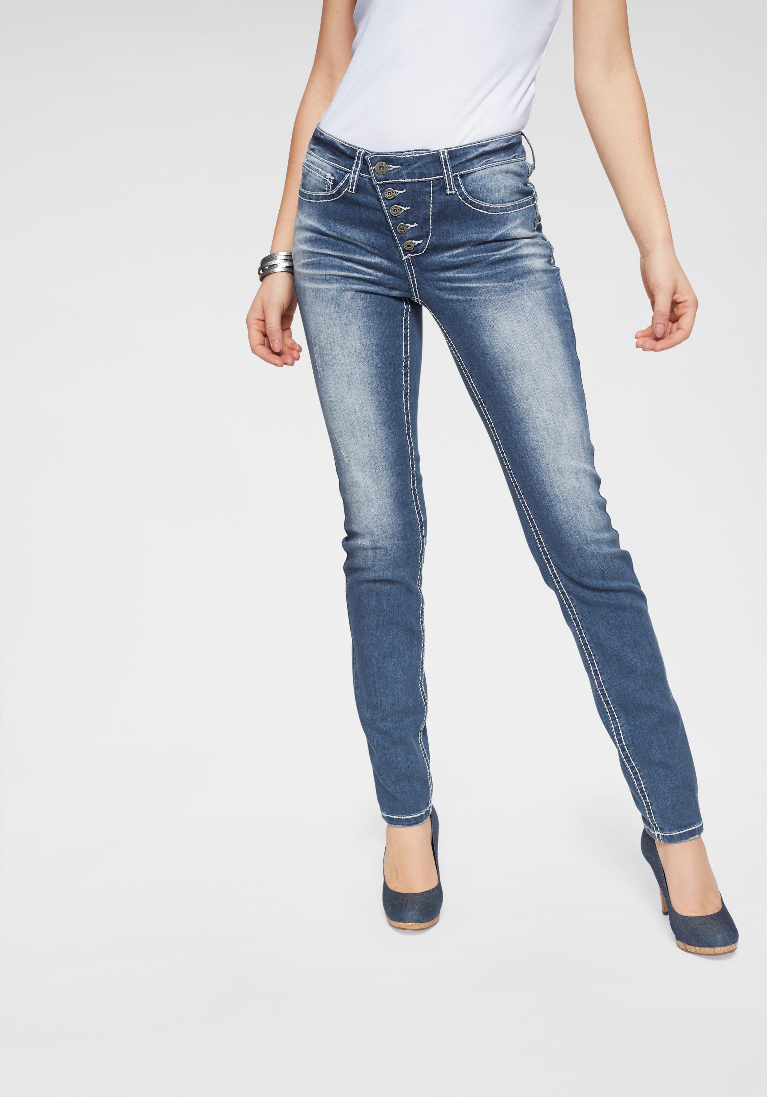 Arizona Slim-fit-Jeans Heavy Heavy Heavy Washed - Shaping Damenmode Röhrenjeans Damen Jeans 711871