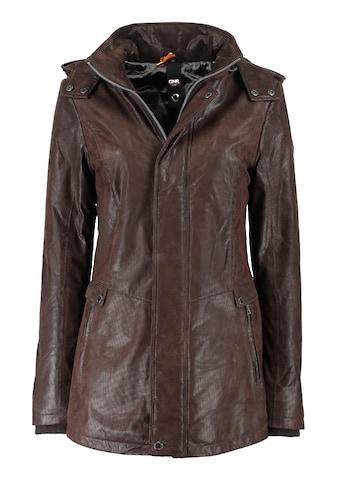 DNR Jackets Lederjacke, mit Kapuze und verdecktem Reißverschluss kaufen