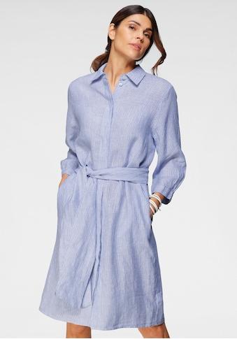 seidensticker Blusenkleid, (mit Bindegürtel), längeres Leinenkleid, gestreift kaufen