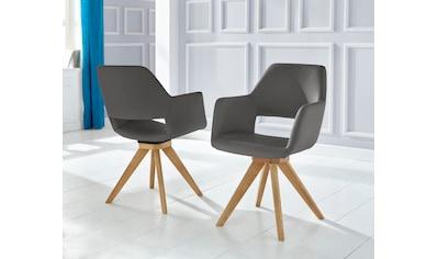 Drehstuhl »Berlin«, (2 Stück), Bezug in Microfaser oder Leder kaufen