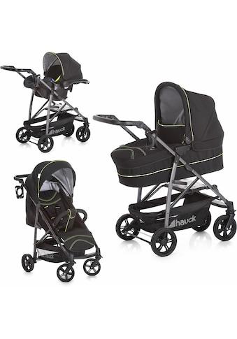 Hauck Kombi-Kinderwagen »Rapid 4S Plus Trio Set Caviar/Neon Yellow«, mit Babyschale;... kaufen