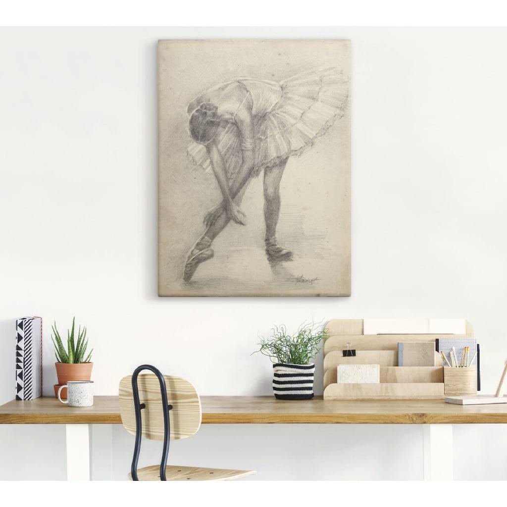 Artland Wandbild »Antike Ballerina Übung II«, Sport, (1 St.), in vielen Größen & Produktarten - Alubild / Outdoorbild für den Außenbereich, Leinwandbild, Poster, Wandaufkleber / Wandtattoo auch für Badezimmer geeignet