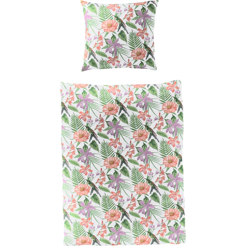 BIERBAUM Bettwäsche »Tropical Colorful«, mit tropischem Print
