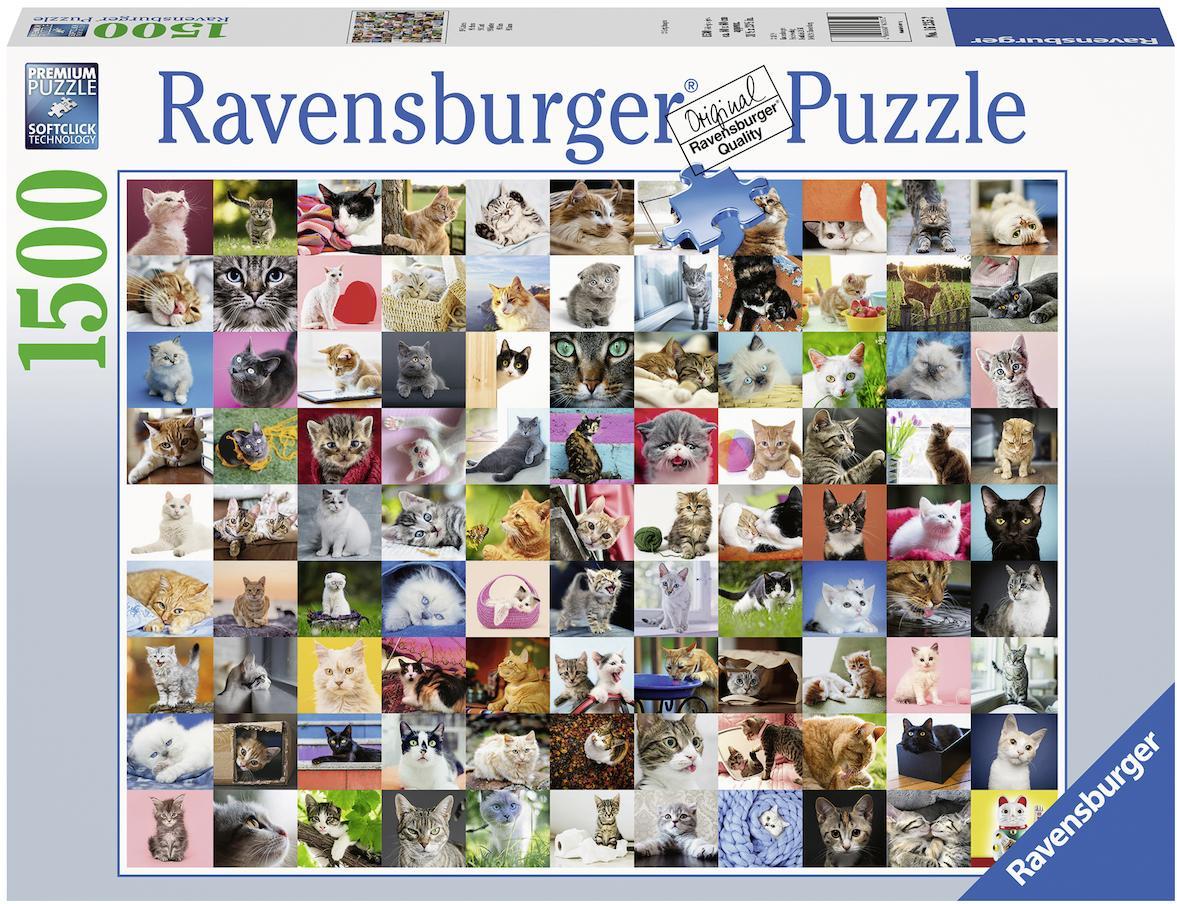 Ravensburger Puzzle 99 Katzen, Made in Germany bunt Kinder Ab 12-15 Jahren Altersempfehlung Puzzles