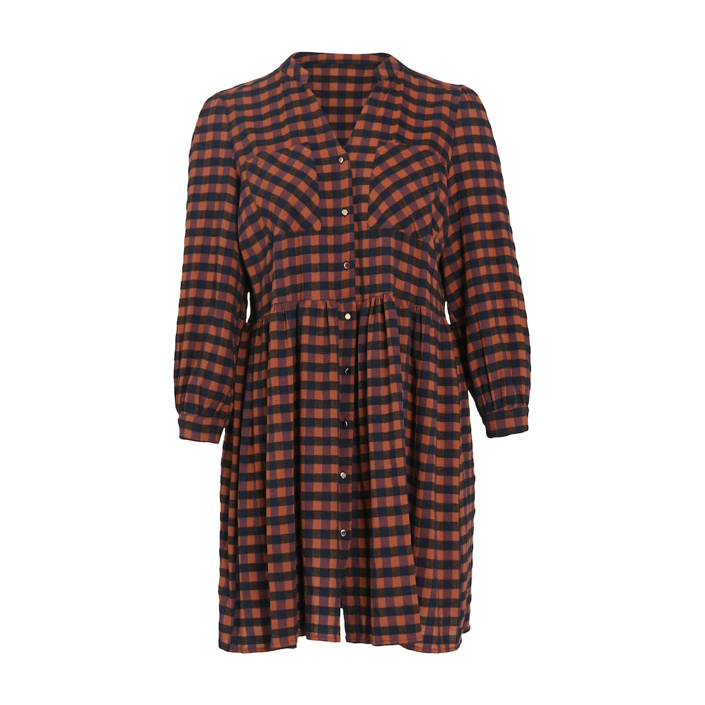 Paprika Shirtkleid »Rundhals geblümt«