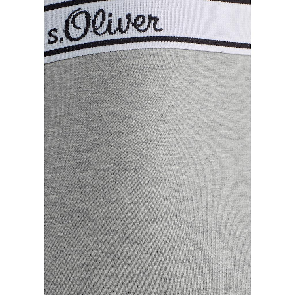 s.Oliver Bodywear Hipster, schöne Retro Pants mit weißem Webbund