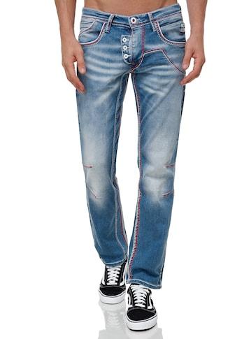 Rusty Neal Straight-Jeans »RUBEN 46«, mit auffälligen Ziernähten kaufen