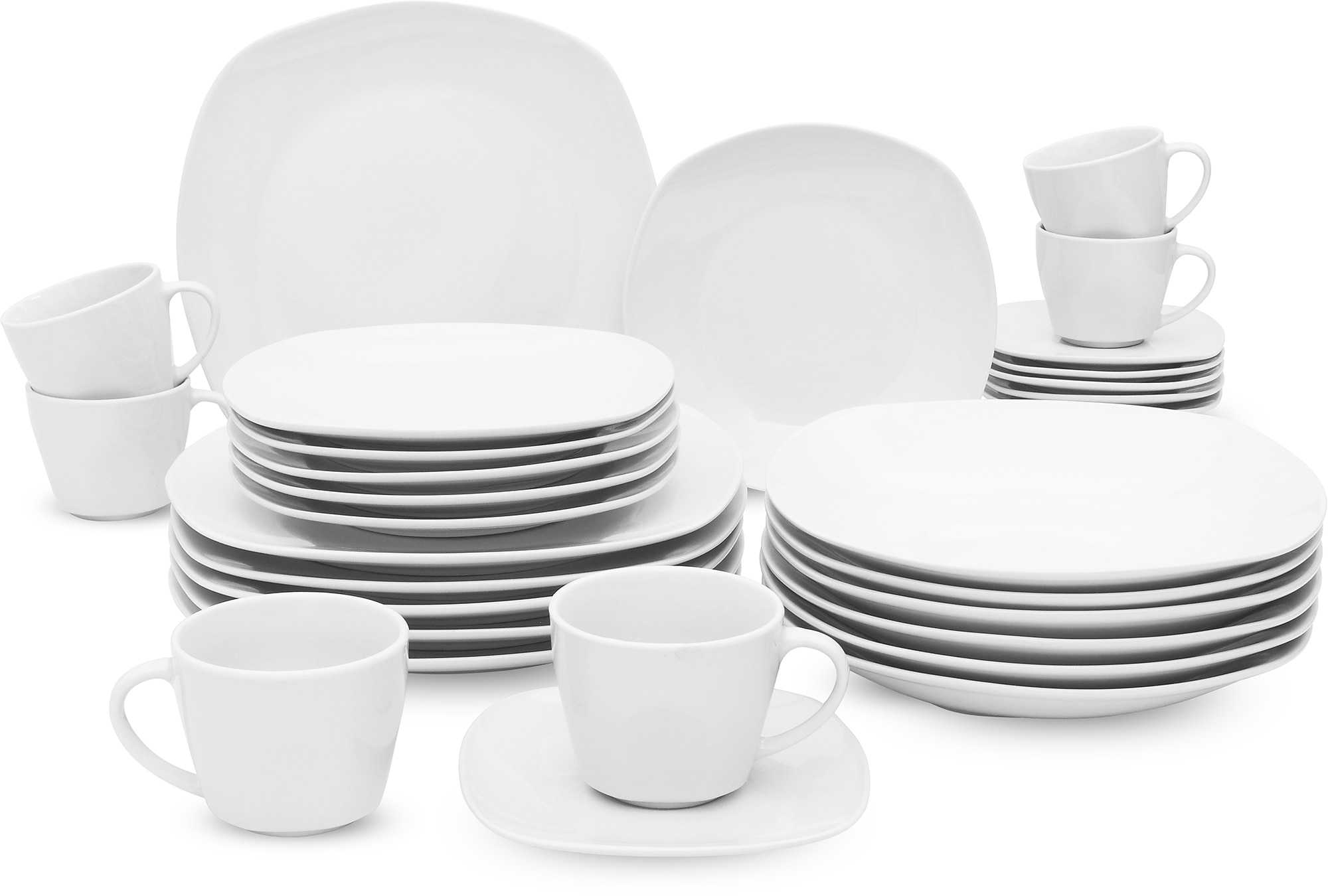 Retsch Arzberg Kombiservice FINO (30-tlg.), Porzellan weiß Geschirr-Sets Geschirr, Tischaccessoires Haushaltswaren