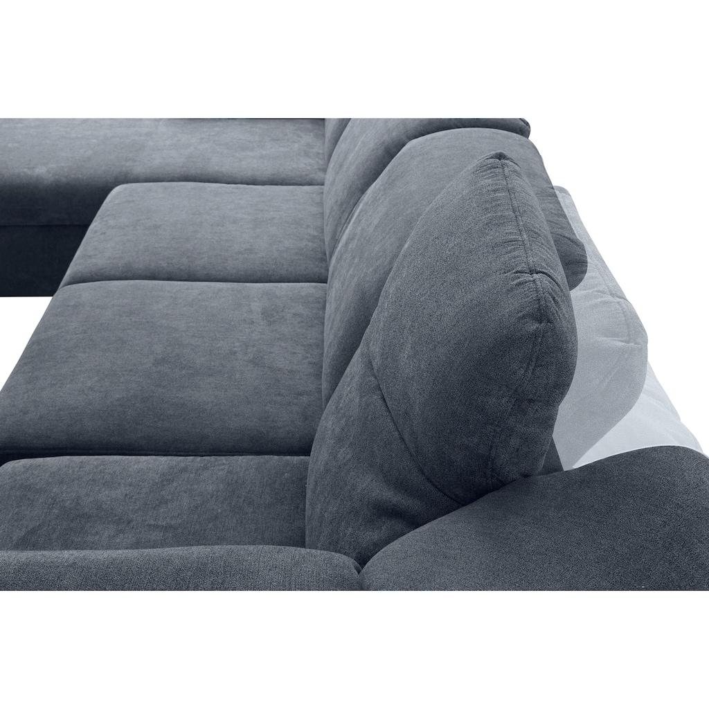 DOMO collection Wohnlandschaft, wahlweise mit Bettfunktion und Rückenverstellung