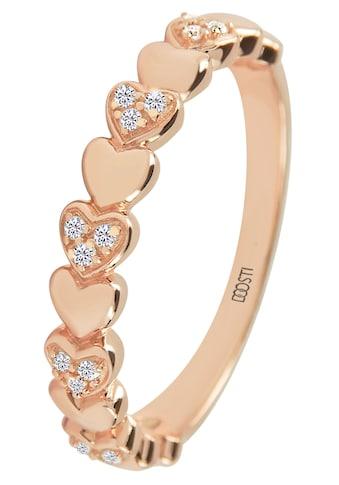 DOOSTI Fingerring »HEART, SI - R - 46 - RG« kaufen
