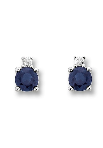 ONE ELEMENT Paar Ohrstecker »Ohrringe / Ohrstecker aus 585 Weißgold mit 0,02 ct Diamant Safir« kaufen