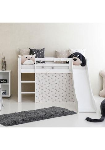 Hoppekids Hochbett »Pets«, mit Rutsche, Vorhang und wahlweise Matratze kaufen