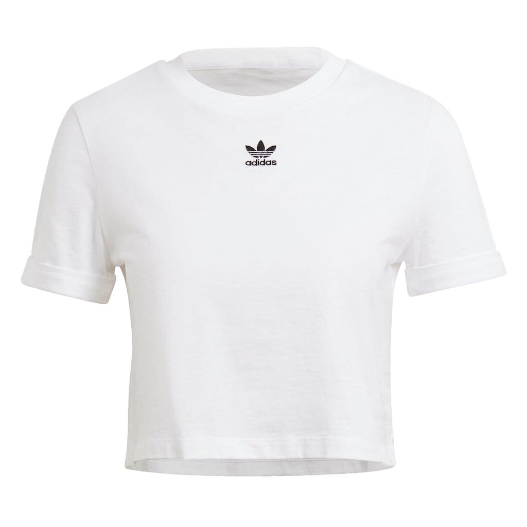 adidas Originals Crop-Top »ADICOLOR CLASSICS ROLL-UP SLEEVE CROP-TOP«