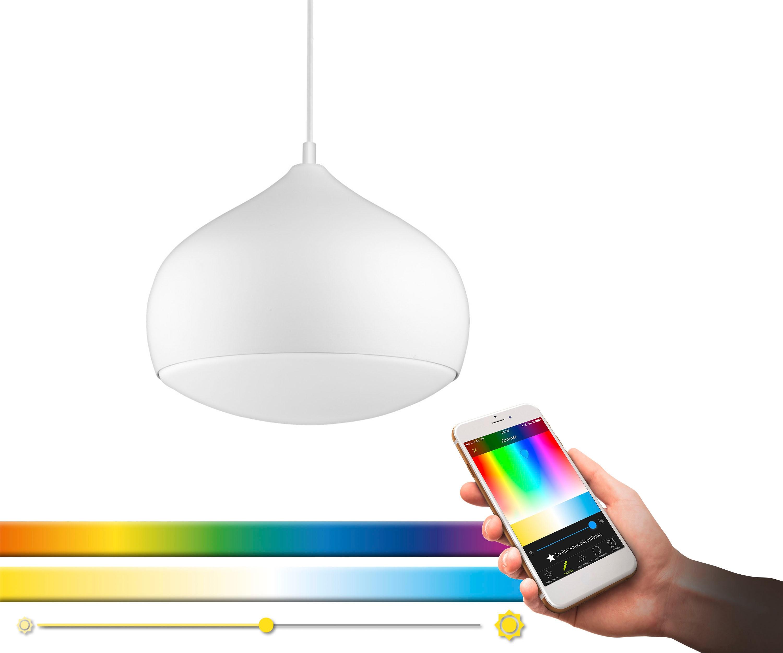 EGLO Pendelleuchte COMBA-C, LED-Board, Warmweiß-Tageslichtweiß-Neutralweiß-Kaltweiß, Hängeleuchte, EGLO CONNECT, Steuerung über APP + Fernbedienung, BLE, CCT, RGB, dimmbar, Farbwechsel