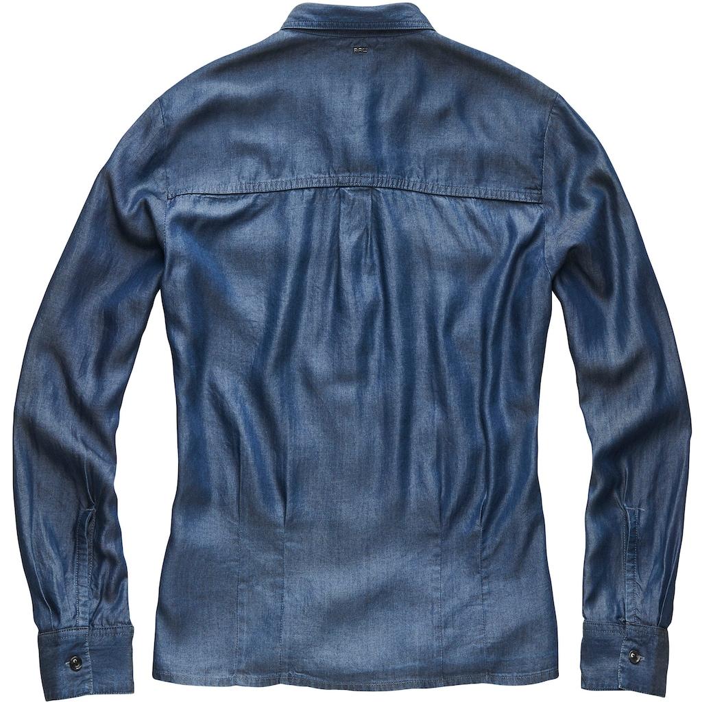 G-Star RAW Jeansbluse »Rovic Pleated Denim Shirt«, mit Brust Pattentaschen
