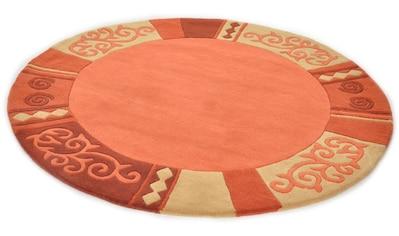 Wollteppich, »Ambadi«, THEKO, rund, Höhe 14 mm, handgetuftet kaufen