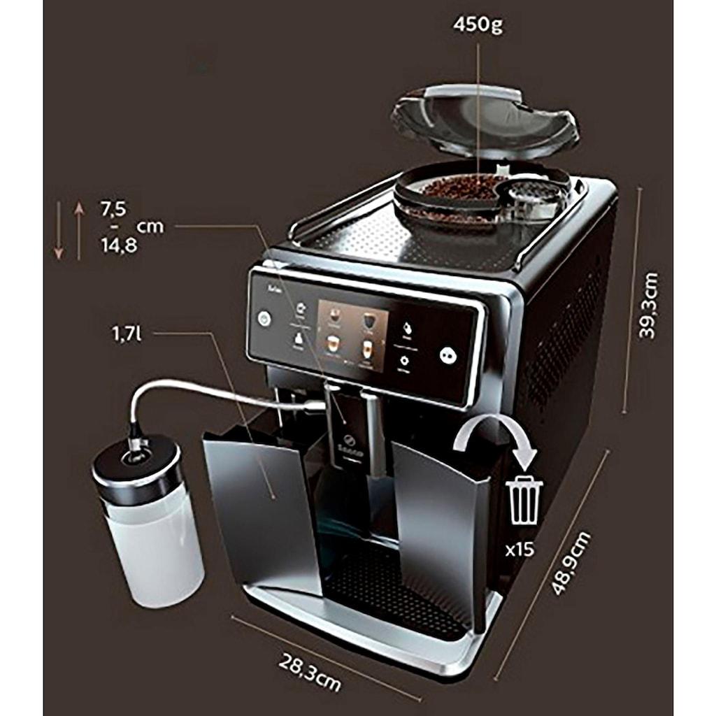 Saeco Kaffeevollautomat »SM7683/10 Xelsis«, 15 Kaffeespezialitäten wählbar, edelstahl/schwarz