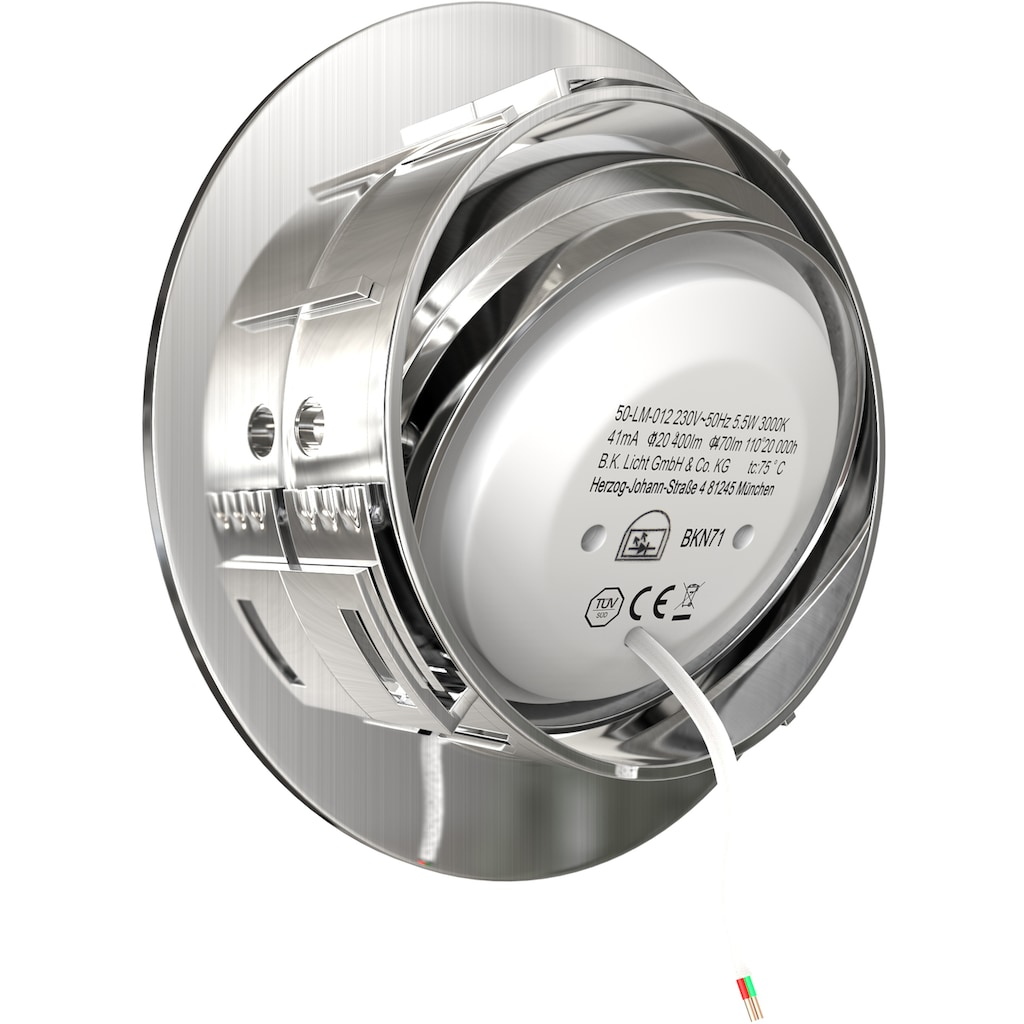B.K.Licht LED Einbauleuchte, LED-Board, Warmweiß, LED Einbaustrahler dimmbar 3-stufig Wandschalter 5x 5,5W 470lm 3.000K schwenkbar ultra-Flach