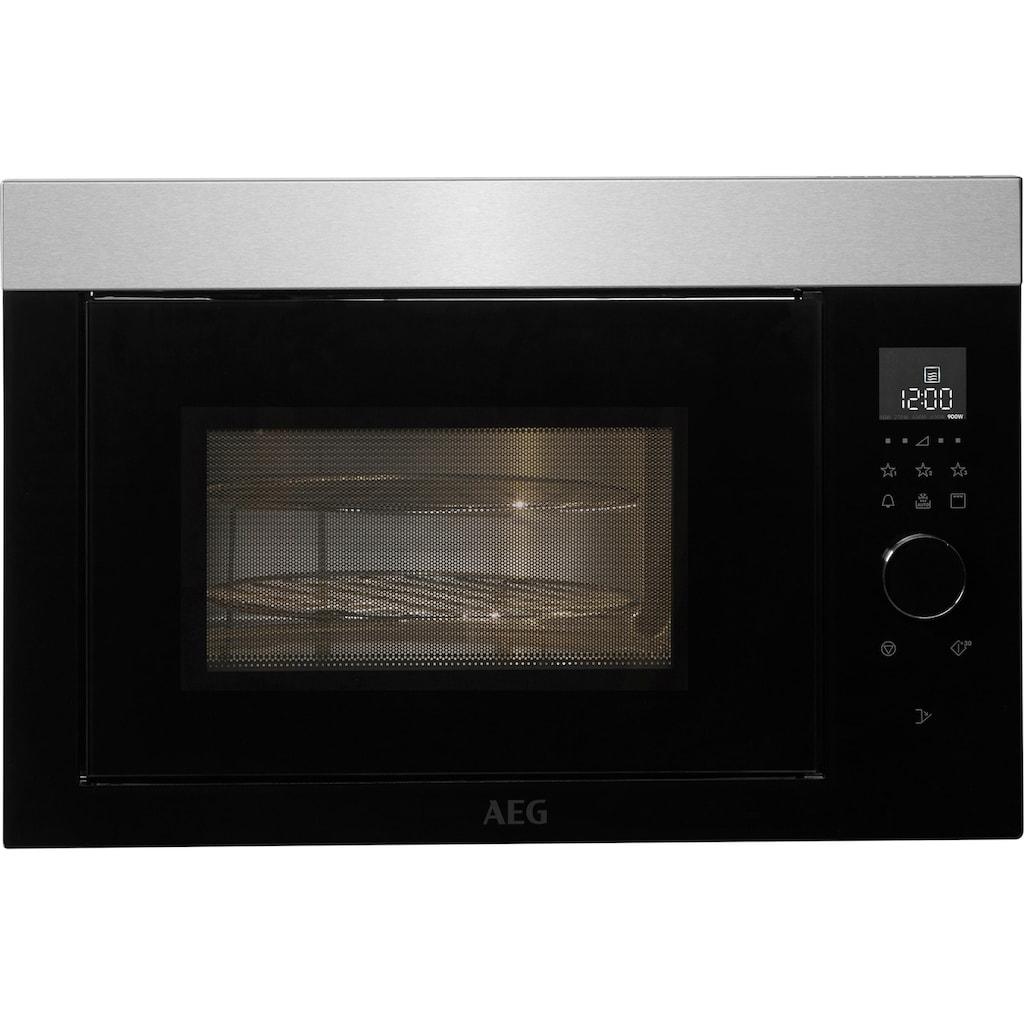 AEG Einbau-Mikrowelle »MBE2657DEM«, Mikrowelle-Grill, 900 W