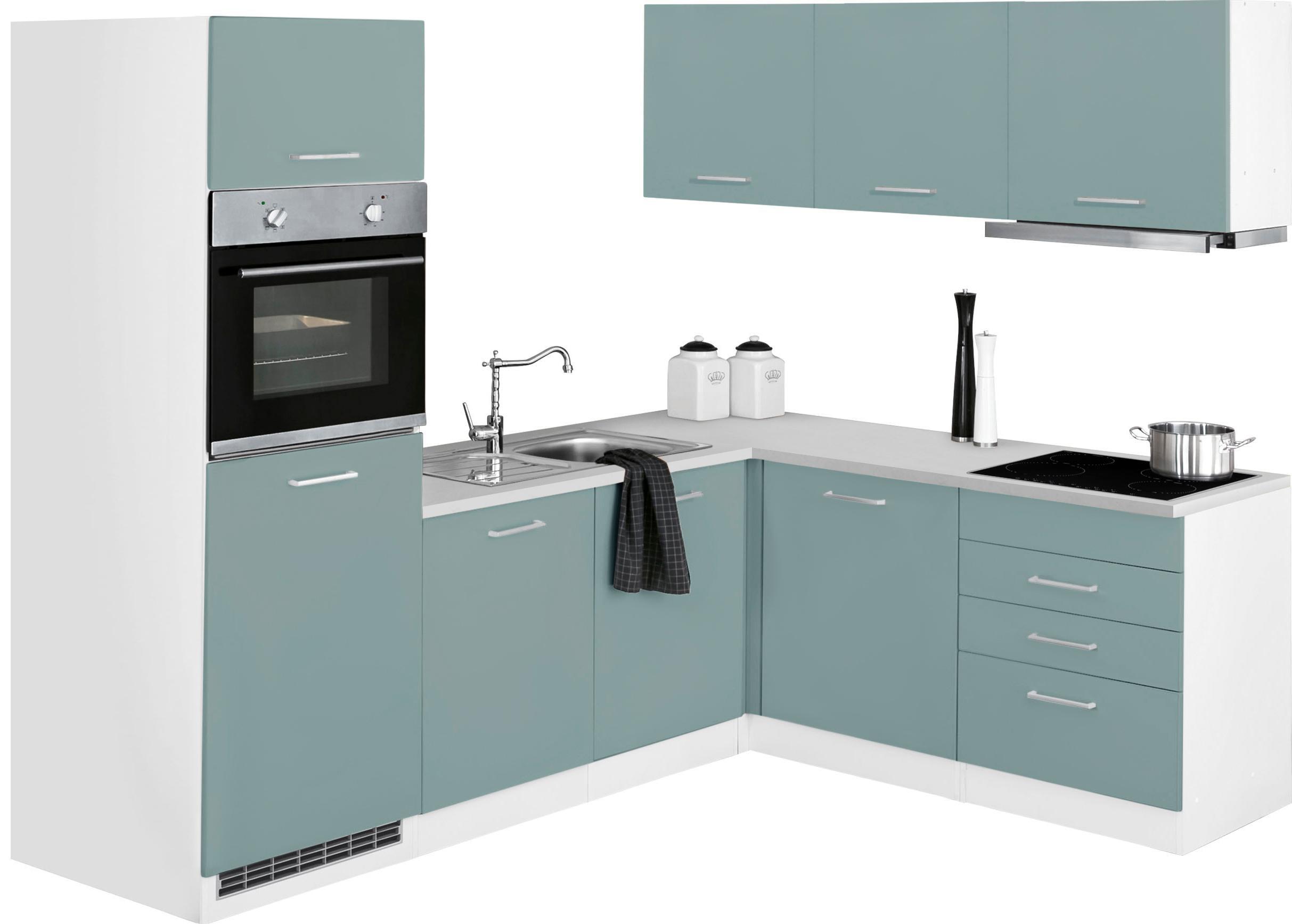 HELD MÖBEL Winkelküche Visby mit E-Geräten Stellbreite 240 x 180 cm