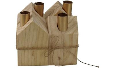 AM Design Adventsleuchter, Kerzenhalter, aus Holz, Höhe ca. 13,5 cm kaufen