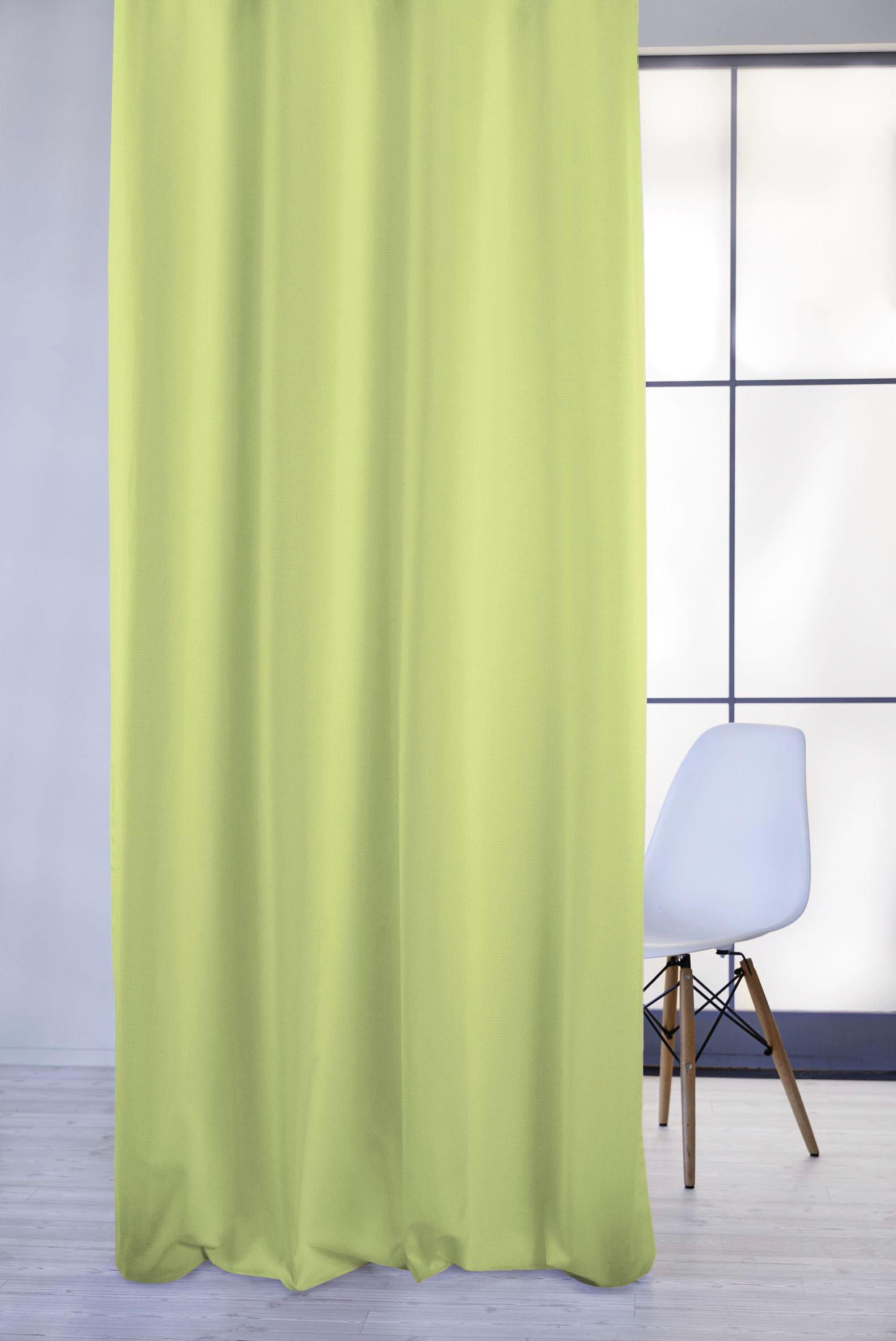 APELT Vorhang 4362 Rips Uni, Pflegeleichter Uni grün Wohnzimmergardinen Gardinen nach Räumen Vorhänge