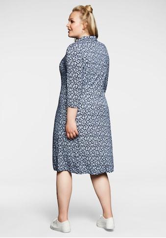 Sheego Jerseykleid, in A-Linie, im Hemdblusenstil kaufen
