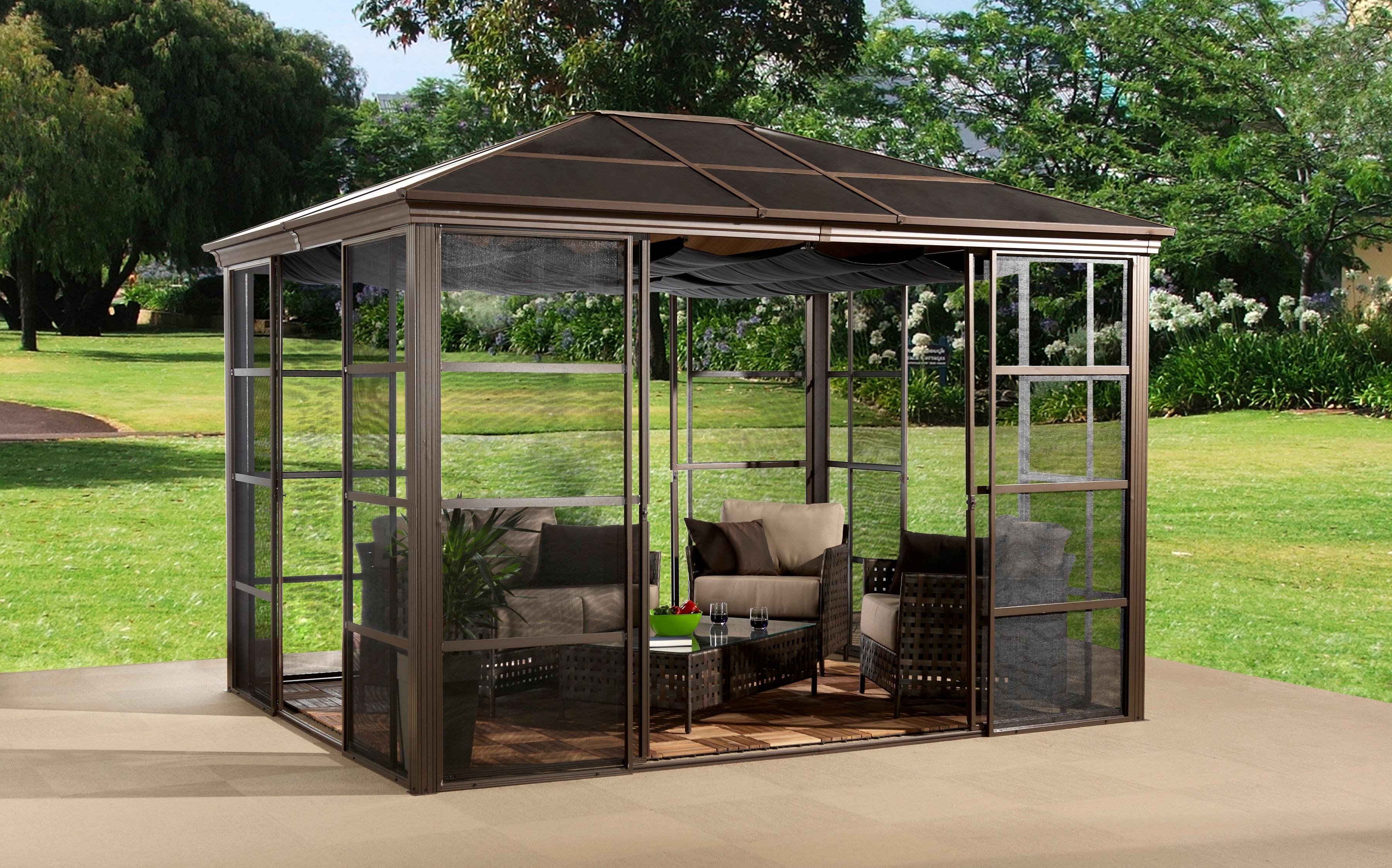 Sojag Pavillon Castel 10x12, BxT: 297x362 cm, inkl. Sonnensegel günstig online kaufen
