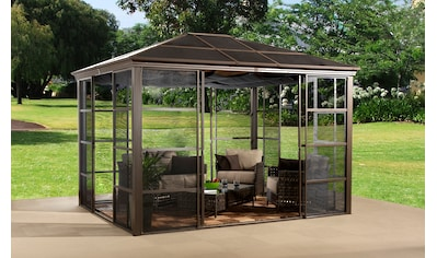50NRTH Pavillon mit Seitenteilen »Castel 10x12«, BxL: 297x362 cm, inkl. Sonnensegel kaufen