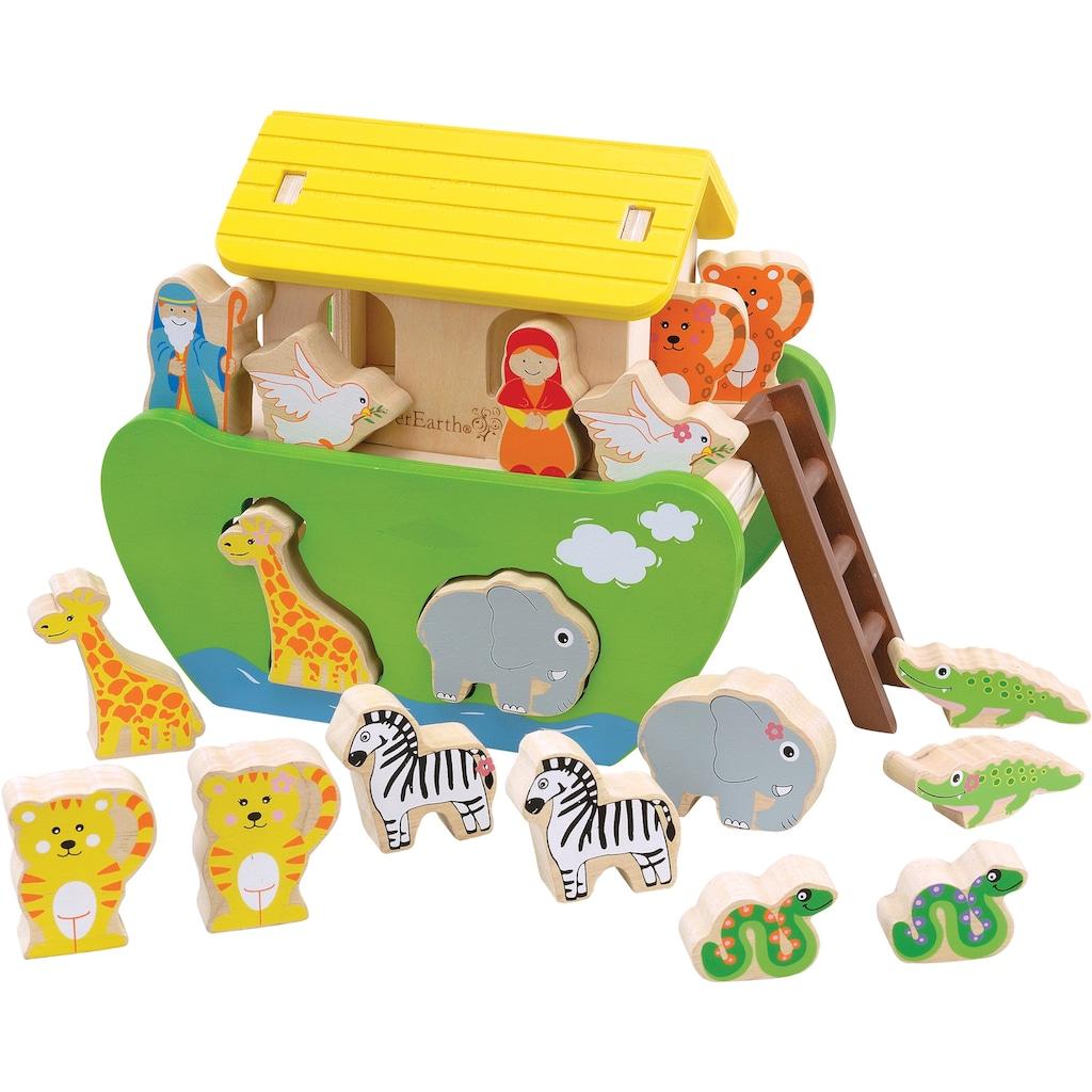 EverEarth® Spielbausteine »Arche Noah zum Sortieren und Stecken«, FSC®-Holz aus gewissenhaft bewirtschafteten Wäldern