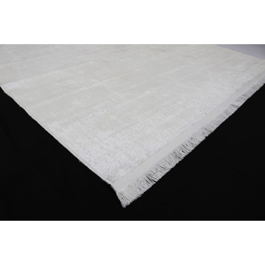 RESITAL The Voice of Carpet Teppich »Lucca 6007«, rechteckig, 5 mm Höhe, leichter Glanzeffekt, mit Fransen, Wohnzimmer