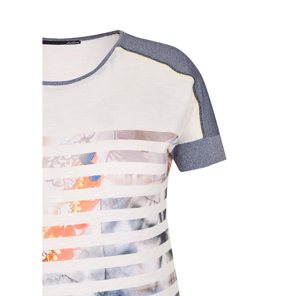LeComte Shirt mit Allover-Print und Glitzereffekt