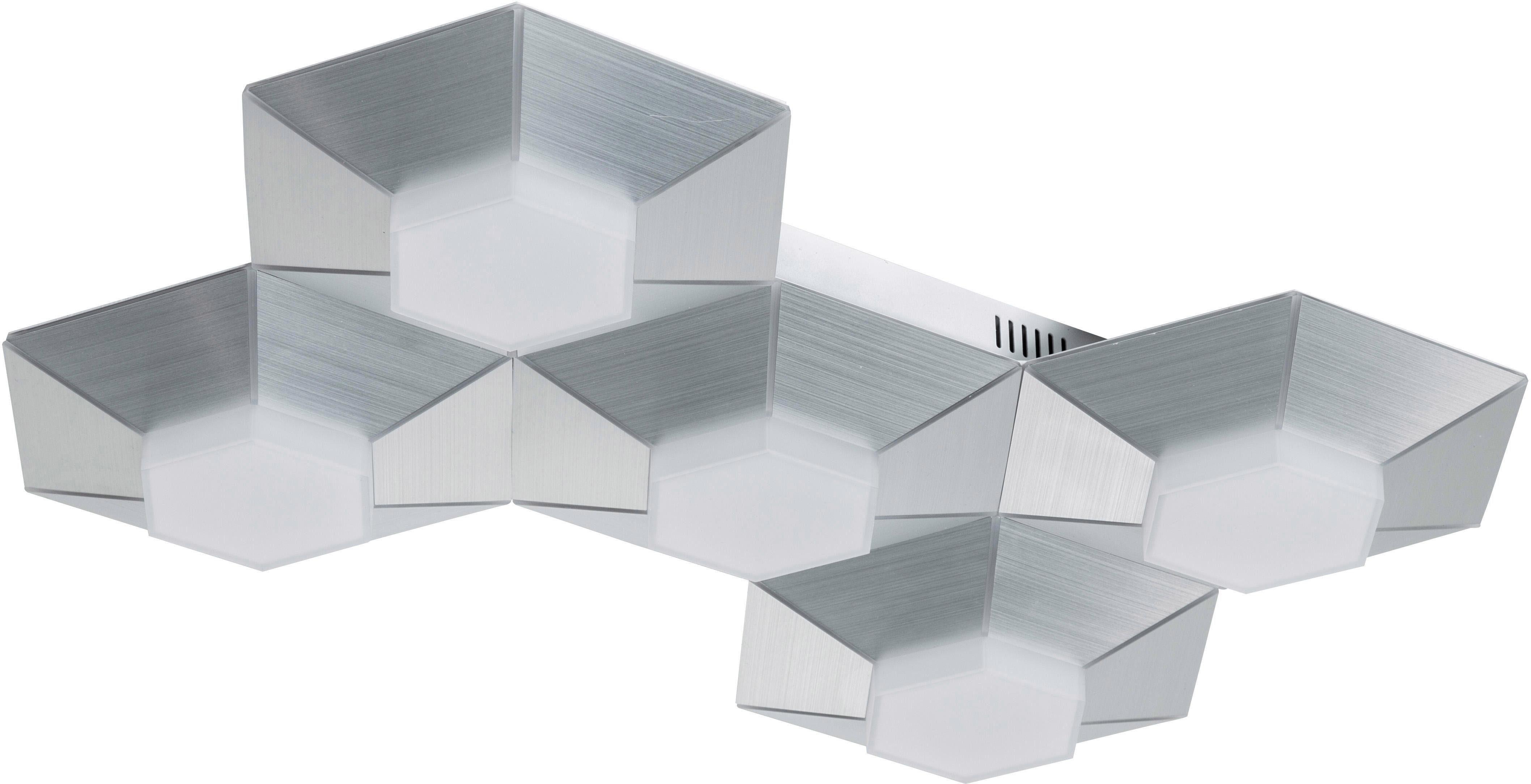 WOFI Deckenleuchte BENTE, LED-Board, Warmweiß, Deckenlampe