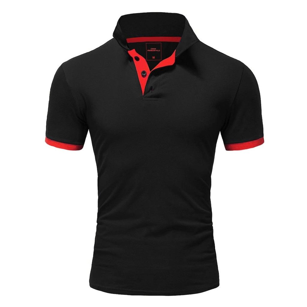 behype Poloshirt »BASE«, mit kontrastfarbigen Details