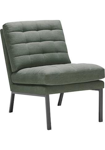 LOVI Sessel »Chilli«, Fußgestell grau, weiche Kissen mit auffallender Steppung im... kaufen