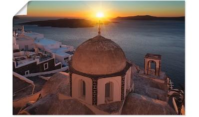 Artland Wandbild »Santorini Sonnenuntergang« kaufen