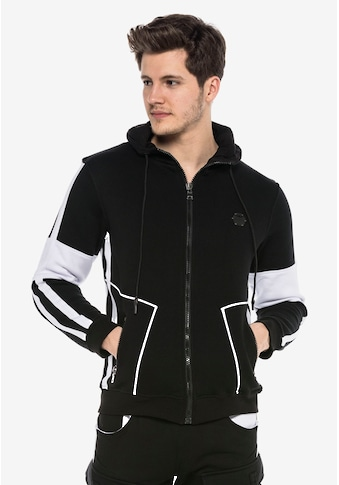 Cipo & Baxx Sweatjacke, mit trendigen Streifen kaufen
