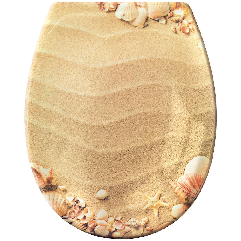 Kleine Wolke WC-Sitz »Sandstrand«
