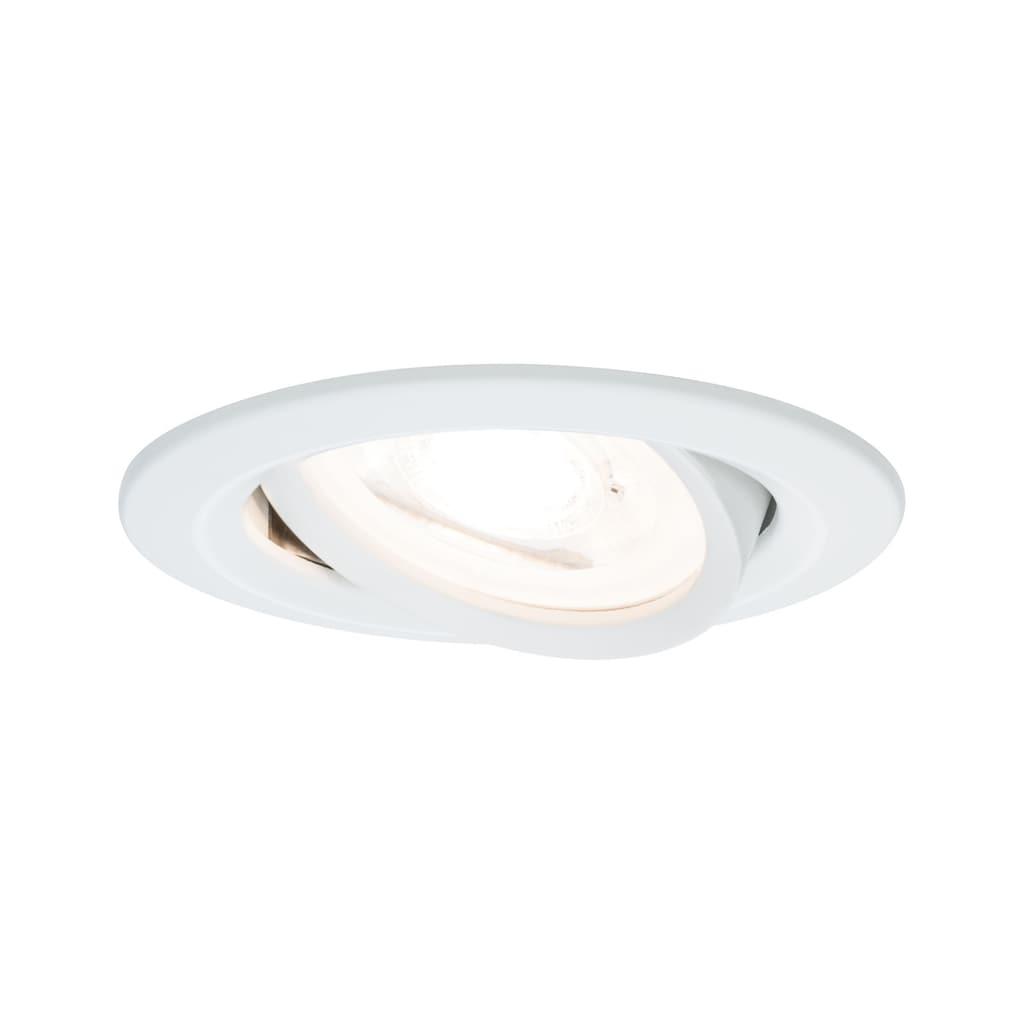 Paulmann LED Einbaustrahler »Nova dimmbar rund GU10 3x7W Weiß matt schwenkbar«, GU10, 3 St.