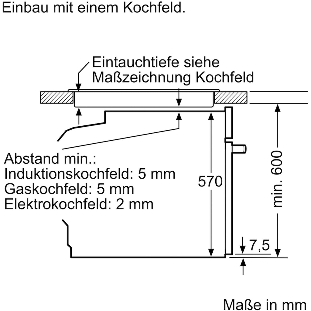 NEFF Einbaubackofen »B2CVH7AN1«, N 50, B2CVH7AN1, mit Teleskopauszug nachrüstbar, Pyrolyse-Selbstreinigung