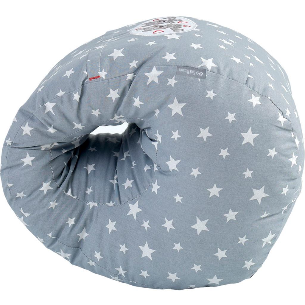 SEI Design Stillkissen »Sterne-Taupe«