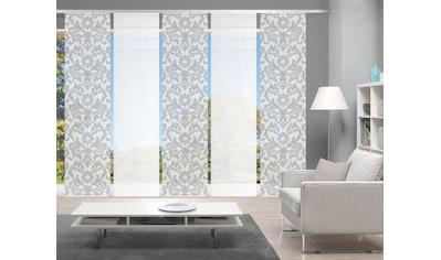 Vision Schiebegardine »ORNAMIA 5er SET«, Bambus-Optik, Digital bedruckt kaufen