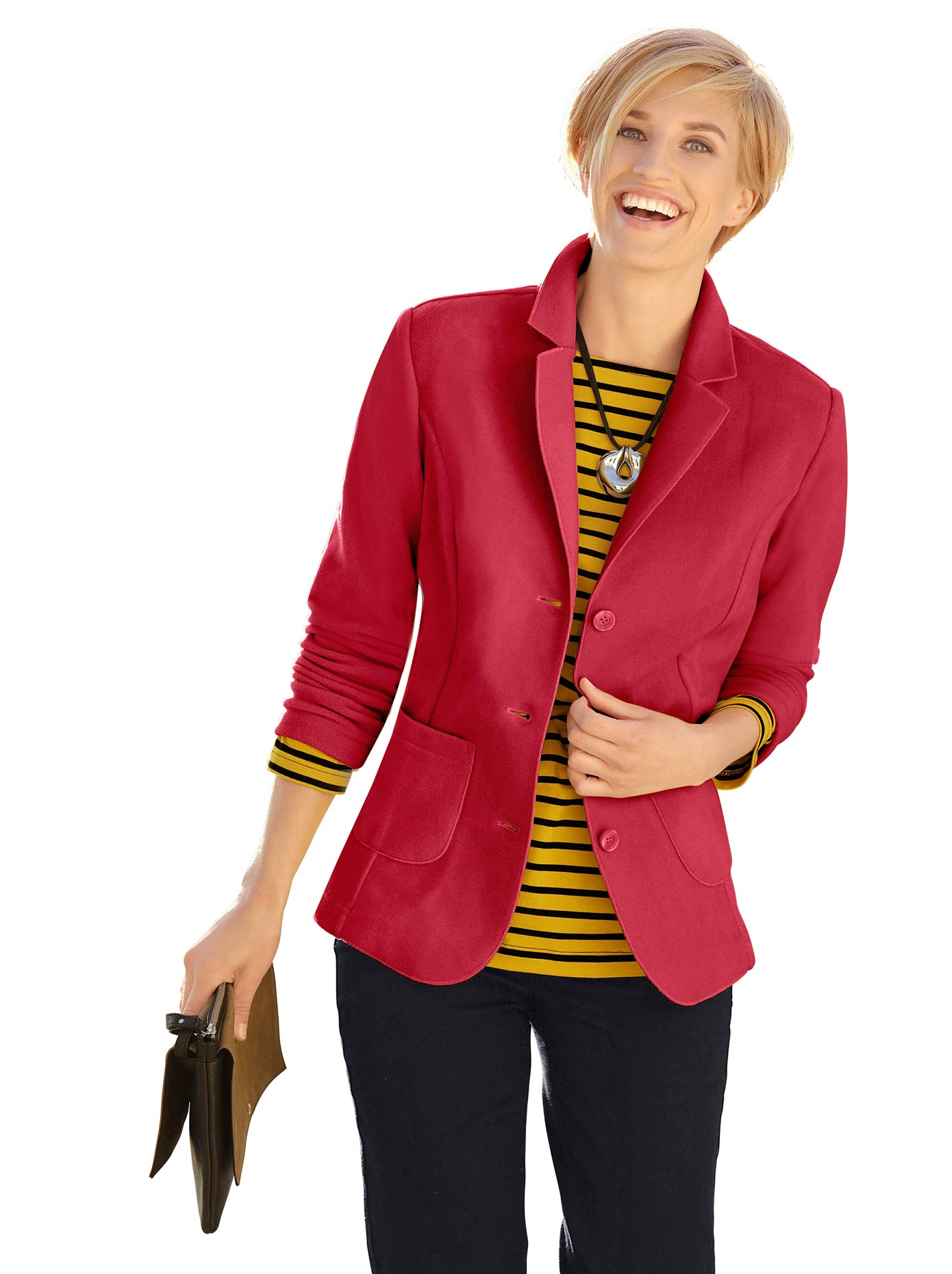 f2261db80afd Bildquelle: Casual Looks Fleece-Blazer mit Reverskragen