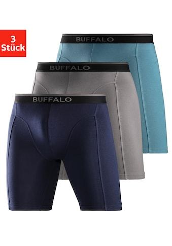 Buffalo Boxer, in langer Form mit Logodruck im Webbund kaufen