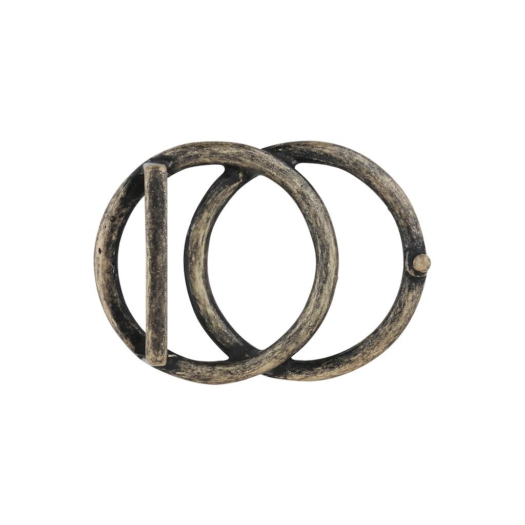 RETTUNGSRING by showroom 019° Gürtelschnalle »mit zwei Kreisen«, in edlem Design
