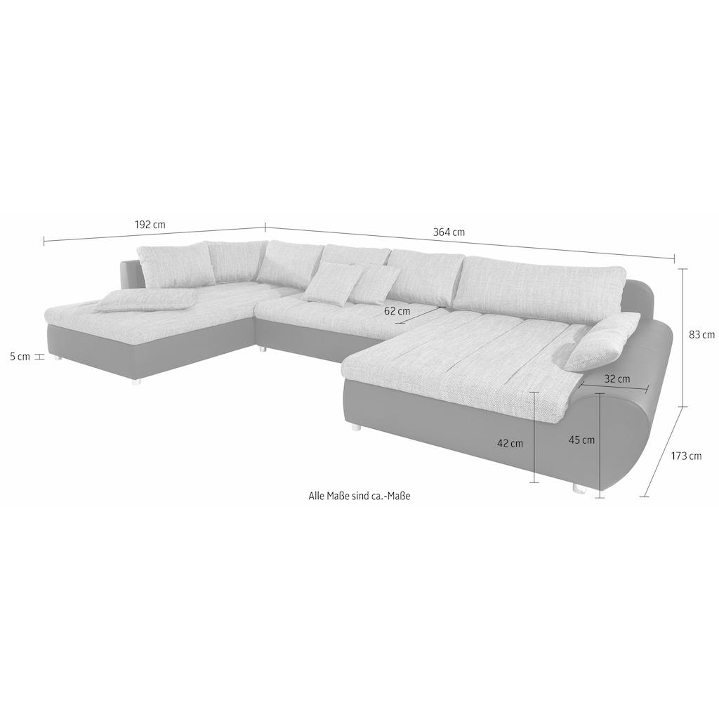 sit&more Wohnlandschaft »Bandos«, in 2 unterschiedlichen Größen, wahlweise mit Bettfunktion