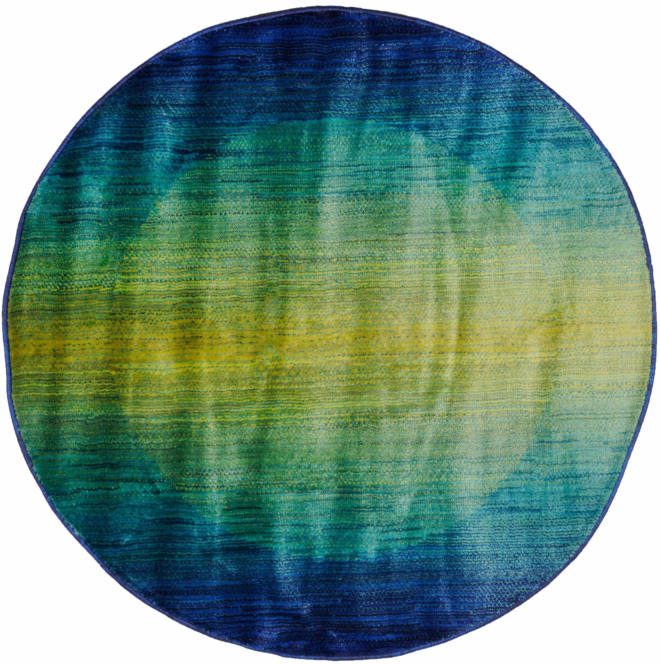 Teppich Oriental Summer 5 Oriental Weavers rund Höhe 15 mm maschinell gewebt