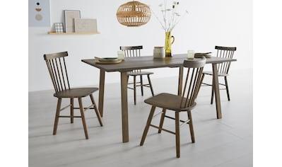 OTTO products Esstisch »Lennard«, aus massiver geölter Wildeiche, mit veganem und zertifizierten Bio-Öl behandelt, rechteckige Tischplatte, mit eckigen Holzbeinen kaufen